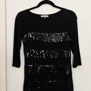 Sequin panel mini dress